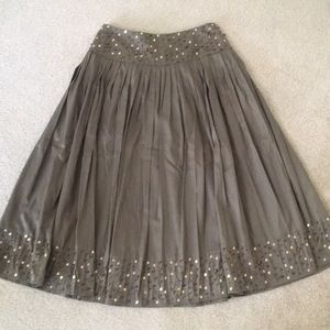 Inc Concepts Holiday Embellished Pleated Skirt